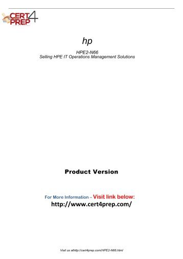 HPE2-N66 Practice Software