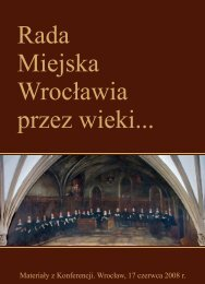 Rada Miejska Wrocławia przez wieki... - Maciej Zegan - Radny Rady ...