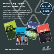 Browse & Buy Logistics Books Online