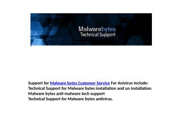 Fix Errors with Malwarebytes virus removal tool 1-800-644-5716