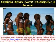 Caribbean Chennai Escorts Full Satisfaction in Bedroom