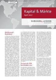 Kapital & Märkte: Ausgabe April 2017