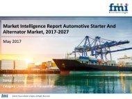 Market Intelligence Report Automotive Starter And Alternator Market, 2017-2027