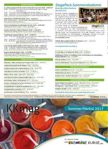 KKmag Flyer Sommer/Herbst 2017
