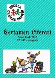 Certamen literari 3 i 4 categoria 2017