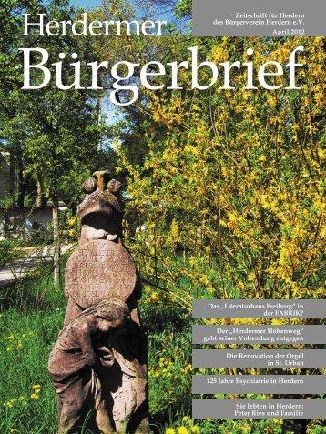 Der Herdermer Höhenweg - Bürgerverein Herdern