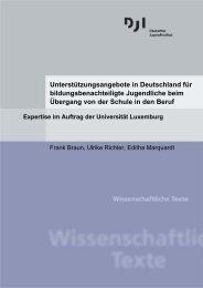 Unterstützungsangebote in Deutschland für bildungsbenachteiligte ...