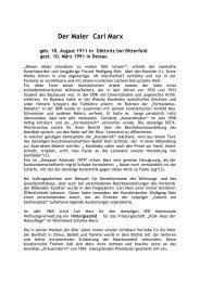 Der Maler Carl Marx - Dessauer Wohnungsbaugesellschaft mbH
