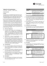 Allgemeine Servicebedingungen - Tro:Net