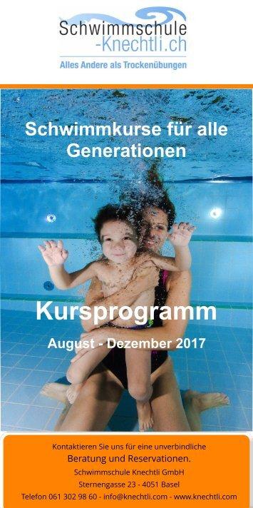 Kursprogramm SSK August 2017