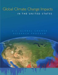 Global Climate Change Impacts in the United States - WaterWebster