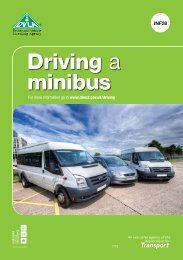 INF28 Driving A Minibus - Driver and Vehicle Licensing Agency