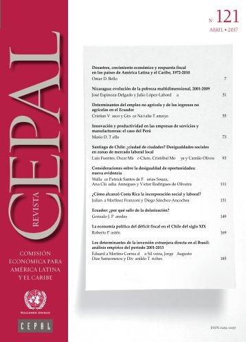 Revista CEPAL no. 121