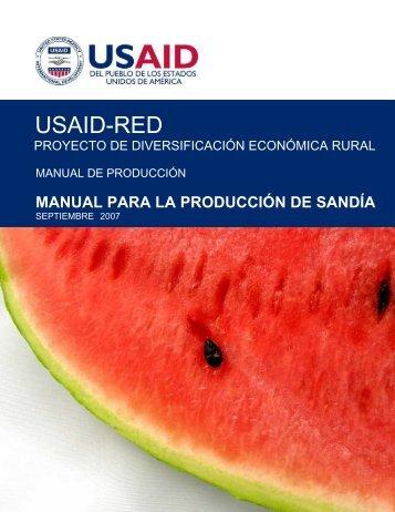 Manual para la produccion de Sandia USAID