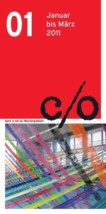 Januar bis März 2011 - c/o Kunst in und aus Mönchengladbach