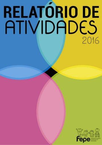 FEPE - Relatório de Atividades 2016