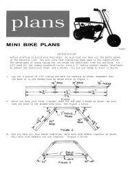 MINI BIKE PLANS - Vintage Projects