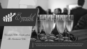 Exponential Events Brochure