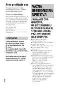 Sony HDR-PJ620 - HDR-PJ620 Istruzioni per l'uso Serbo - Page 2