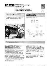 System A/1 SOMFY-Steuerung