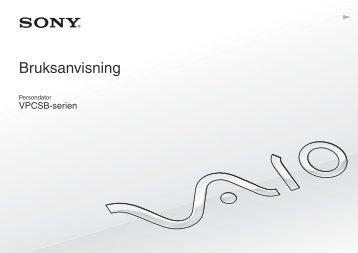 Sony VPCSB1S1E - VPCSB1S1E Mode d'emploi Suédois