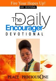 THE DAILY ENCOURAGER - MAY EDITION