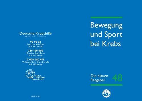 Bewegung und Sport bei Krebs - Klinikum Ingolstadt
