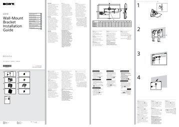 Sony KDL-32W656A - KDL-32W656A Guide d'installation Croate
