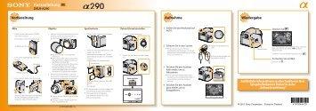 Sony DSLR-A290L - DSLR-A290L Consignes d'utilisation Allemand
