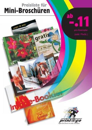 Mini-Broschüren - Zumsteg Druck AG