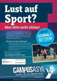 CampusAsyl Sport Flyer 2017