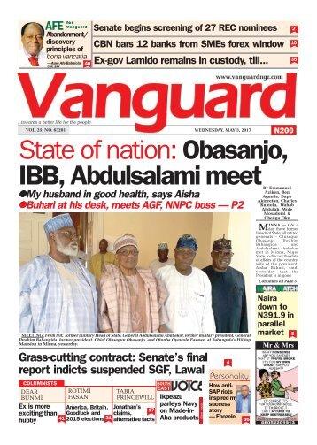 03052017 - State of nation: Obasanjo, IBB, Abdulsalami meet