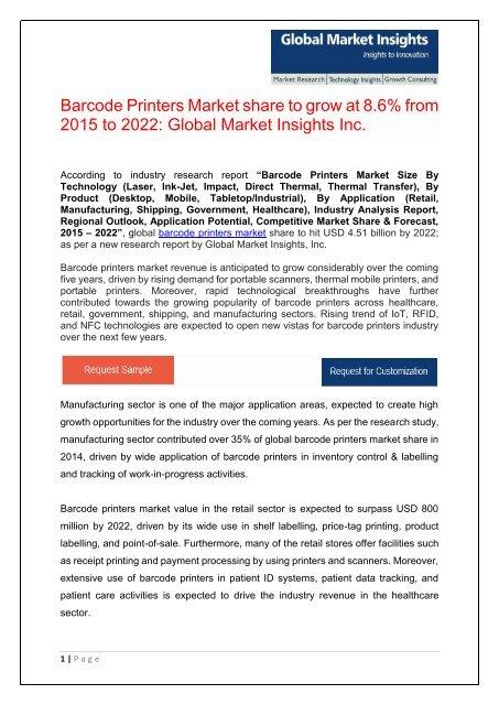 PDF- Barcode Printers Market