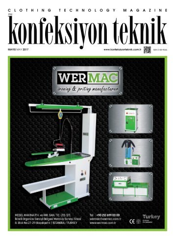 Konfeksiyon Teknik Dergisi Mayıs 2017 Sayısı
