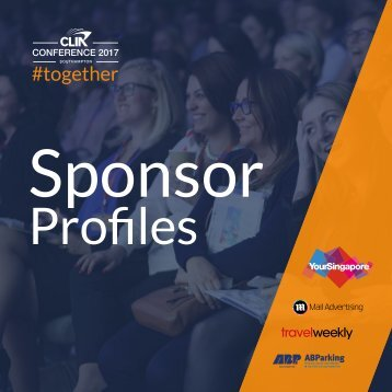 CLIA Conference 2017 Sponsor Profiles Digital Final