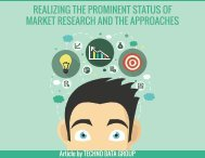REALIZING THE PROMINENT STATUS OF MARKET RESEARCH AND THE APPROACHES