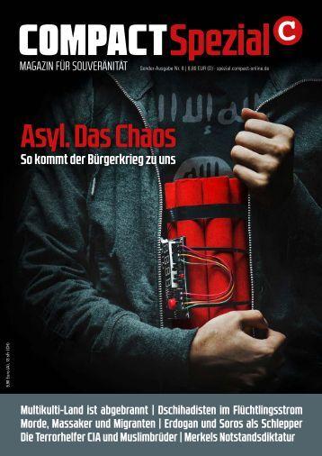 """COMPACT SPEZIAL 8 """"Asyl das Chaos"""""""
