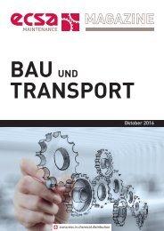 ECSA Maintenance MAGAZINE - Bau und Transport - Oktober 2016