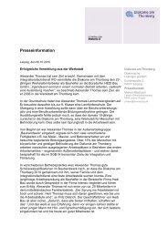 Presseinformation - Diakonie am Thonberg