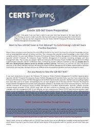 1Z0-567 Oracle Exam Dumps