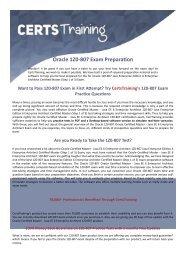 1Z0-807 Oracle cloud distribution Exam Dumps
