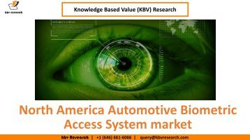 North America Automotive Biometric Access System market