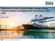 Automotive Carbon Ceramic Brakes Market to reach US$ 265 Mn by 2026