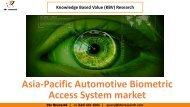 Asia-Pacific Automotive Biometric Access System market