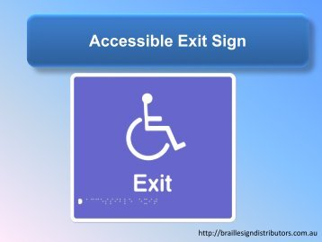 Accessible Exit Sign - Braille Sign Distributors