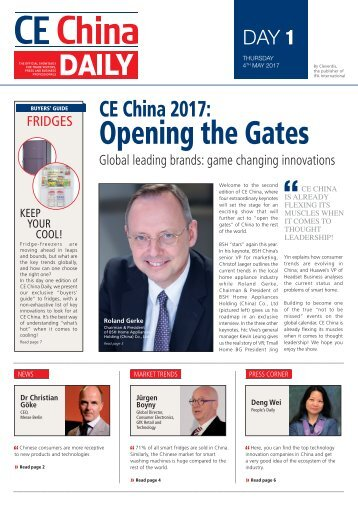 CE China Daily - Day 1 Edition