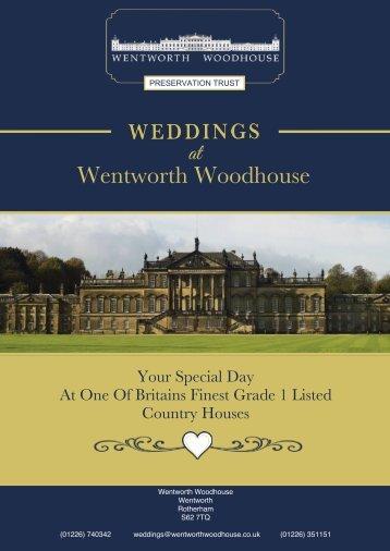 Wentworth Woodhouse Wedding Brochure