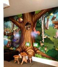 Mural paintings at Acorn Dentistry for Kids make kids feel comfortable