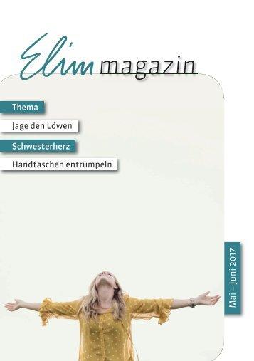 Elim Magazin Mai / Juni 2017