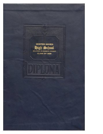 WHHS Diploma Mildred Elizabeth Knight